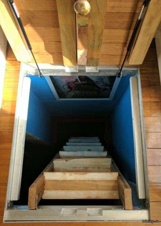 Кінотеатр у підвалі будинку (8 фото)