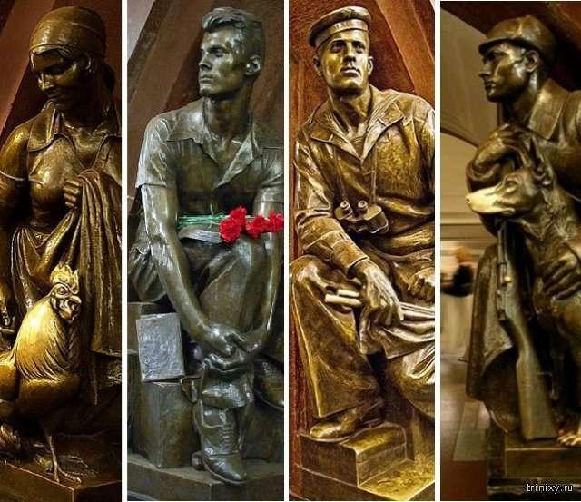 Історії людей, які стали прообразами скульптурних героїв на станції метро «Площа революції» (11 фото)