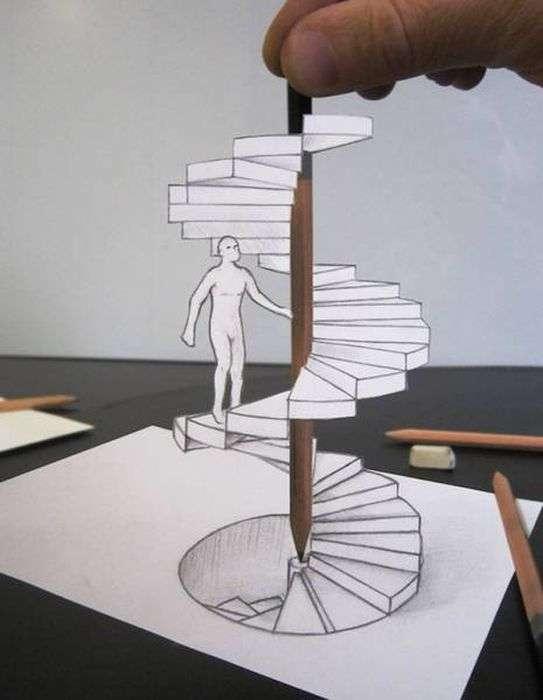 Дивовижні тривимірні малюнки (25 фото)