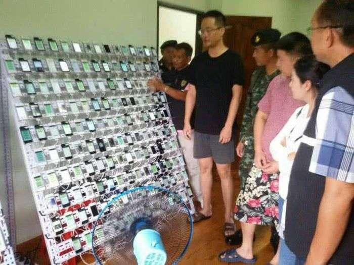 У Таїланді закрили ферму по накрутці кліків в соціальній мережі WeChat (5 фото + відео)