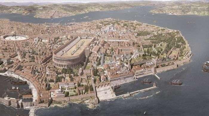 Константинополь з IV по XIII століття в малюнках Антуана Хелберта (6 малюнків)
