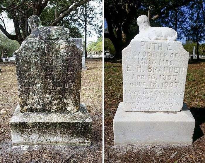 Американець приводить у належний вигляд могили ветеранів (11 фото)