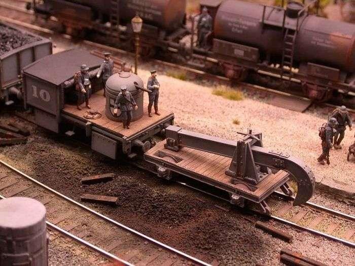 Діорама німецької залізничної станції (46 фото)