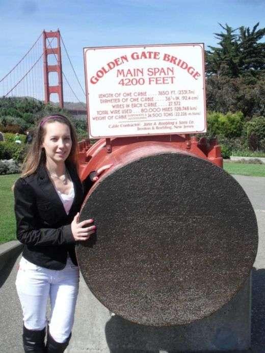 Трос мосту «Золоті Ворота» в Сан–Франциско (3 фото)