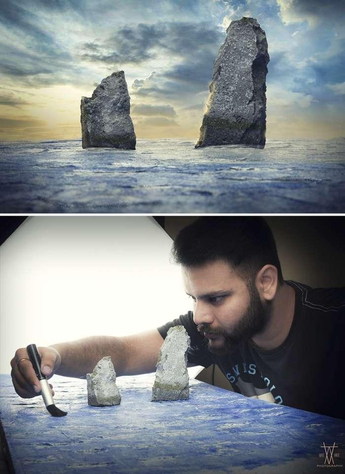 Вражаючі знімки Вацала Катарии, зроблені за допомогою саморобних макетів (9 фото)