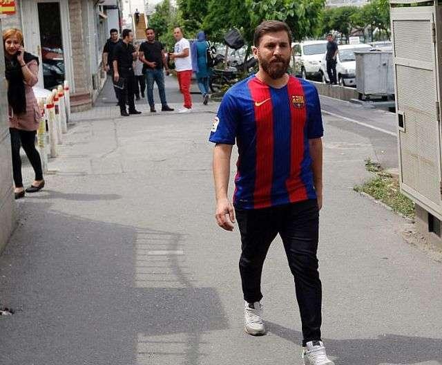 Іранський двійник футболіста Ліонеля Мессі затримано за порушення громадського порядку (7 фото)