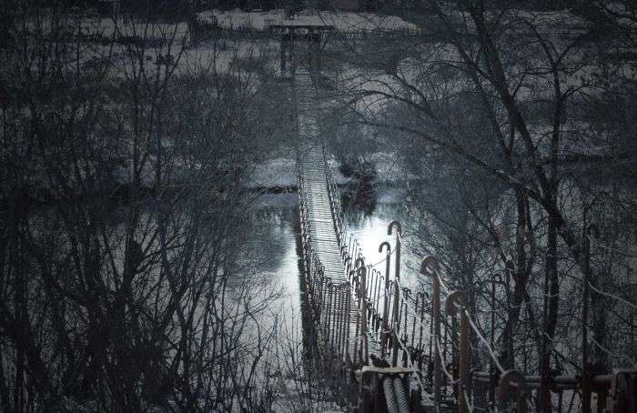 Висячі мости в російській глибинці (22 фото)