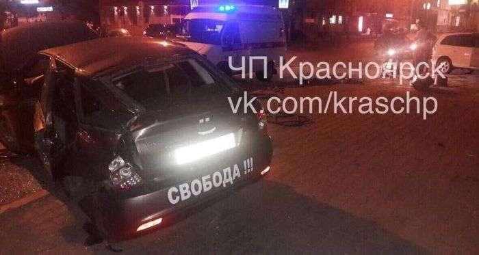 Свобода запаморочила голову автомобілісту (3 фото)