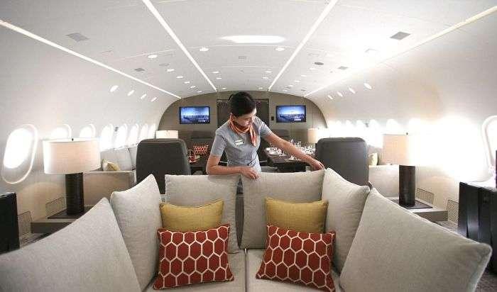 B787 Dreamliner Dreamjet - найбільший у світі приватний літак (12 фото)