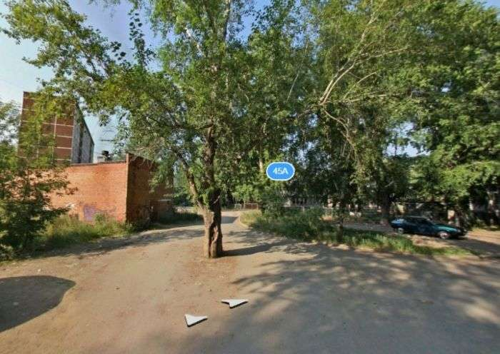 У Єкатеринбурзі старий пень посеред дороги закатали в асфальт (3 фото)