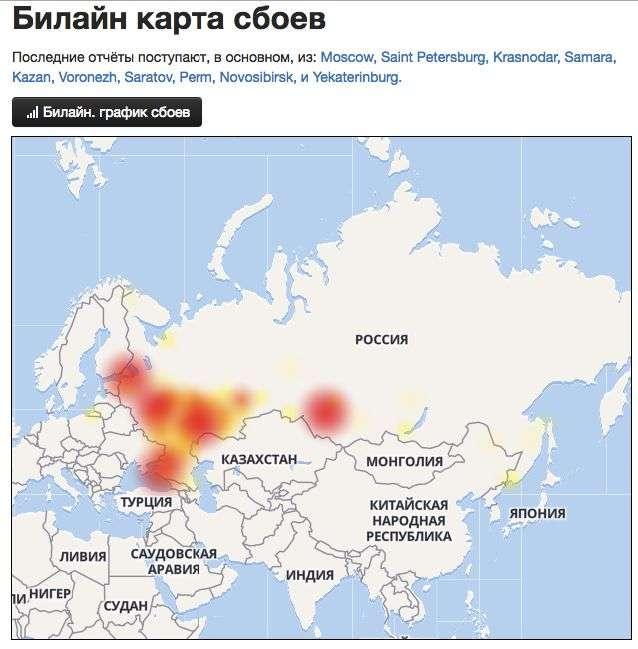 У російських мобільних операторів зявилися проблеми зі звязком (5 фото)