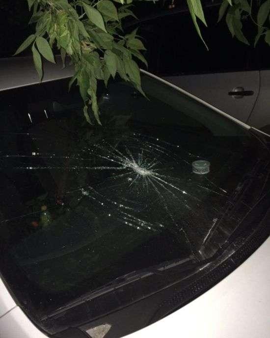 В Павлівському Посаді невідомі пошкодили автомобілі «Яндекс.Таксі» (5 фото)