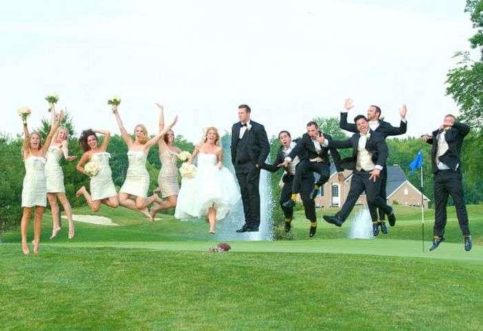 Сімейна пара зробила незвичайні фото для весільного альбому (3 фото + відео)