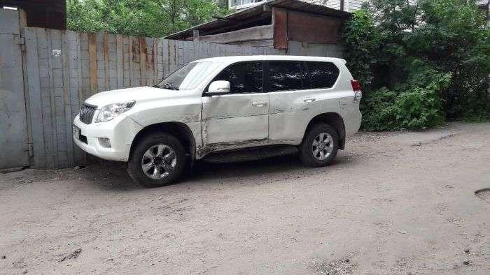 У Воронежі жінка протаранив пять автомобілів (5 фото)